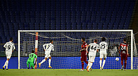 Football, Serie A: AS Roma - Juventus, Olympic stadium, Rome, September 27, 2020. <br /> Juventus' Cristiano Ronaldo (l) kicks a penalty and scores during the Italian Serie A football match between Roma and Juventus at Olympic stadium in Rome, on September 27, 2020. <br /> UPDATE IMAGES PRESS/Isabella Bonotto