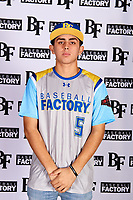 Kyle Anderson (5) of Etiwanda High School in San Bernardino, California during the Baseball Factory All-America Pre-Season Tournament, powered by Under Armour, on January 12, 2018 at Sloan Park Complex in Mesa, Arizona.  (Mike Janes/Four Seam Images)