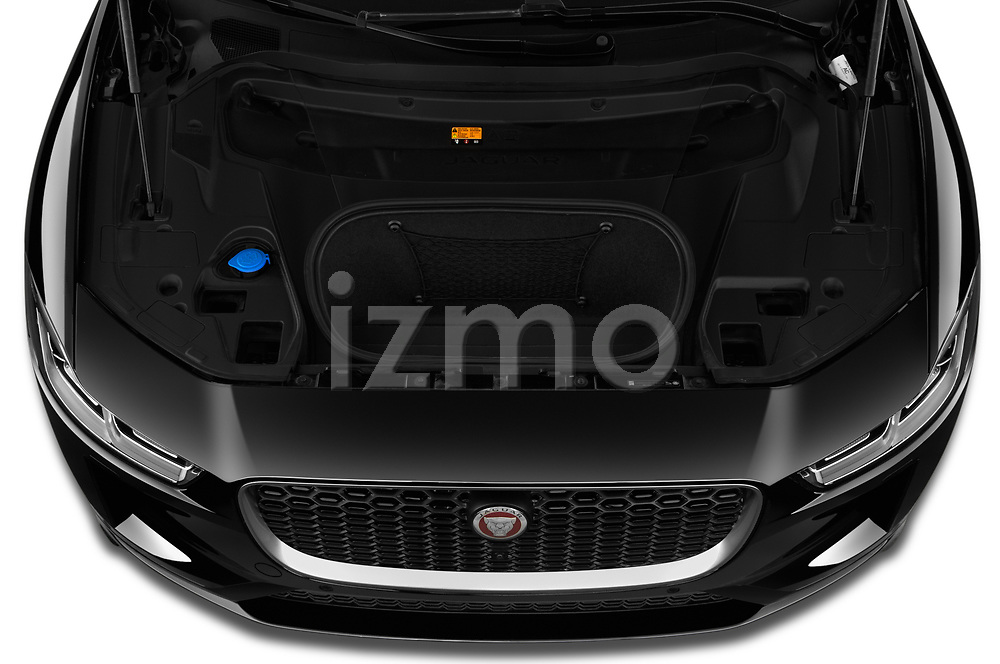 Car Stock 2020 Jaguar I-PACE HSE 5 Door SUV Engine  high angle detail view