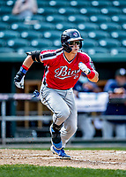 6 June 2021: Binghamton Rumble Ponies outfielder Matt Winaker in action against the New Hampshire Fisher Cats at Northeast Delta Dental Stadium in Manchester, NH. The Rumble Ponies defeated the Fisher Cats 9-6 to close out their 6-game series. Mandatory Credit: Ed Wolfstein Photo *** RAW (NEF) Image File Available ***