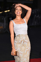 """Gugu Mbathe-Raw<br /> at the London Film Festival premiere for """"A United Kingdom"""" at the Odeon Leicester Square, London.<br /> <br /> <br /> ©Ash Knotek  D3160  05/10/2016"""