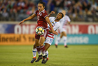 Jacksonville, FL - Thursday April 5, 2018: Stephany Mayor, Crystal Dunn during an International friendly match versus the women's National teams of the United States (USA) and Mexico (MEX) at EverBank Field.
