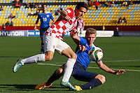 VINA DEL MAR, Chile - Tuesday, October 20, 2015: The USMNT U-17 and Croatia end up playing to a 2-2 draw in first round group action during the 2015 FIFA U-17 World Cup at Stadium Sausalito.