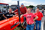 Supporting the  Vintage Tractor run in Ballyduff on Sunday, l to r: Tony Goggin, Thomas Wynne, Liam and William Goggin.