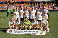 Houston, TX - Sunday Oct. 09, 2016: Western New York Flash Starting Eleven prior to a National Women's Soccer League (NWSL) Championship match between the Washington Spirit and the Western New York Flash at BBVA Compass Stadium.