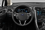 Car pictures of steering wheel view of a 2019 Ford Mondeo Vignale 4 Door Sedan Steering Wheel