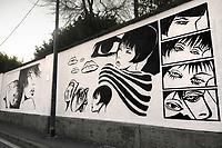 - Milano, murali in via San Cristoforo dedicati al disegnatore Guido Crepax ed al suo personaggio Valentina<br /> <br /> - Milan, wall paintings in San Cristoforo street dedicated to the cartoonist Guido Crepax and his character Valentina
