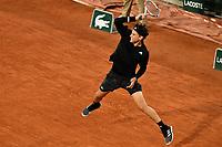 2nd October 2020, Roland Garros, Paris, France; French Open tennis, Roland Garros 2020; Tennis - Roland Garros  2020 - Dominic Thiem - (Aus)