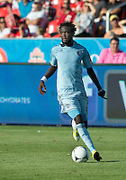 August 18, 2012: Sporting KC forward Kei Kamara #23 in action during an MLS game between Toronto FC and Sporting Kansas City at BMO Field in Toronto, Ontario Canada..Sporting Kansas City won 1-0.