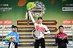 Bauke Mollema (NED) Trek-Segafredo wins with Alejandro Valverde (ESP) Movistar Team 2nd and Egan Bernal (COL) Team Ineos 3rd at the end of the 113th edition of Il Lombardia 2019 running 243km from Bergamo to Como, Italy. 12th Octobre 2019.  <br /> Picture: Marco Alpozzi/LaPresse | Cyclefile<br /> <br /> All photos usage must carry mandatory copyright credit (© Cyclefile | LaPresse/Marco Alpozzi)
