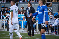 SAN JOSE, CA - MAY 15: Matias Almeyda Head Coach of the San Jose Earthquakes directs his players during a game between San Jose Earthquakes and Portland Timbers at PayPal Park on May 15, 2021 in San Jose, California.
