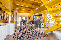 BNPS.co.uk (01202 558833)<br /> Pic: Savills/BNPS<br /> <br /> High ceilings and a colourful decor.<br /> <br /> Water View...Former water tower near Aldeburgh in Suffolk<br /> <br /> A huge six storey former water tower which resembles a castle gate house has emerged on to the market for £1million.<br /> <br /> Grade II listed West Bar, in Thorpeness, provides the perfect vantage point to take in breathtaking views of the Suffolk coast.<br /> <br /> It was designed by architect William Gilmour Wilson in the 1920s in a mock tudor style, with mullioned windows and parapets.<br /> <br /> The six storey, five bedroom property, boasting distinctive full length windows and open fireplaces, has two spacious 'tower' rooms.<br /> <br /> The water tanks were taken out by the deceased owner about 20 years ago. It is being sold with estate agent Savills by his children.