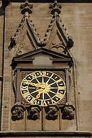 Europe/France/Rhône-Alpes/69/Rhône/Lyon: Vieux Lyon - Primatiale Saint-Jean-Baptiste détail de l'horloge