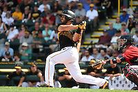 Pittsburgh Pirates catcher Tony Sanchez (26) during a Spring Training game against the Minnesota Twins on March 13, 2015 at McKechnie Field in Bradenton, Florida.  Minnesota defeated Pittsburgh 8-3.  (Mike Janes/Four Seam Images)