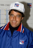 1988 File photo New-York (NY) USA - EXCLUSIVE PHOTO of Michel Bergeron, coach of the New York rangers