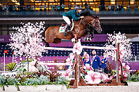 BRA-Yuri Mansur rides Alfons during the Jumping Individual Final. Tokyo 2020 Olympic Games. Wednesday 4 August 2021. Copyright Photo: Libby Law Photography