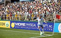 Boston Breaker's Kristine Lilly takes a corner kick. FC Gold Pride defeated the Boston Breakers 2-1 at Buck Shaw Stadium in Santa Clara, California on April 5th, 2009.