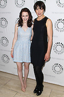 BEVERLY HILLS, CA, USA - JULY 09: Rachel Brosnahan, Olivia Williams at The Paley Center For Media's An Evening With WGN America's 'Manhattan' held at The Paley Center for Media on July 9, 2014 in Beverly Hills, California, United States. (Photo by Xavier Collin/Celebrity Monitor)
