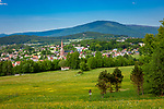 Deutschland, Bayern, Niederbayern, Naturpark Bayerischer Wald, Zwiesel, die Glasstadt: Stadtansicht | Germany, Bavaria, Lower-Bavaria, Nature Park Bavarian Forest, Zwiesel, named the Glass Town: view over town