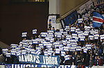 Rangers fans tell institutional investors present at the match of their desire not to rename Ibrox Stadium