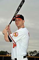 Feb 27, 2010; Tampa, FL, USA; Baltimore Orioles  outfielder Nolan Reimold (14) during  photoday at Ed Smith Stadium. Mandatory Credit: Tomasso De Rosa