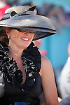 10 April 2010: Big hats abound at the 74th running of the Arkansas Derby at Oaklawn in Hot Springs, Arkansas