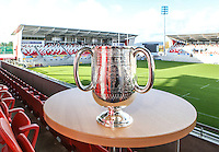 SCHOOLS CUP DRAW 2016 | Monday 16th November 2015<br /> <br /> The 2nd oldest rugby trophy in the world the Ulster Schools Cup has been carefully refurbished and was back on show for the 2016 draw at Kingspan Stadium, Ravenhill Park, Belfast, Northern Ireland.<br /> <br /> Photo credit: John Dickson / DICKSONDIGITAL