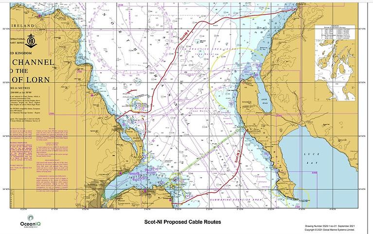Global Marine SubSea Cable Laying in Scottish & Northern Irish Waters