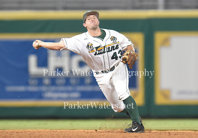Tulane baseball action in the NCAA Regionals at Alex Box Stadium on the campus of LSU in Baton Rouge, LA.