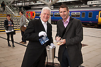 Singing Butler Maxwell offers Keith Rigby from The Wirral chance to win a First Class Ticket on East Midlands Trains