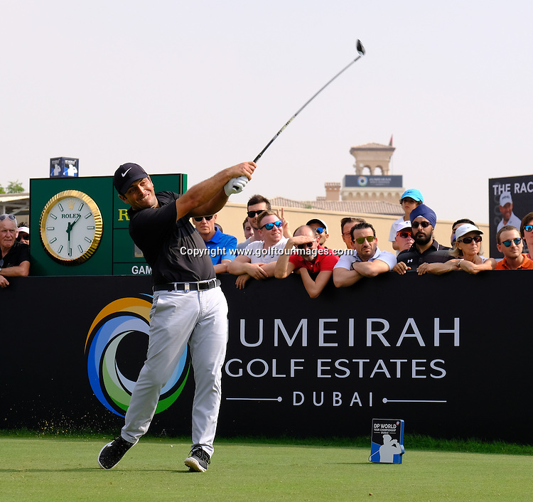 Francesco MOLINARI (ITA) during round three of the 2016 DP World Tour Championships played over the Earth Course at Jumeirah Golf Estates, Dubai, UAE: Picture Stuart Adams, www.golftourimages.com: 11/19/16