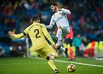 Marco Asensio Willemsen (R) of Real Madrid vies for the ball with Mario Gaspar Perez Martínez of Villarreal CF during the La Liga 2017-18 match between Real Madrid and Villarreal CF at Santiago Bernabeu Stadium on January 13 2018 in Madrid, Spain. Photo by Diego Gonzalez / Power Sport Images