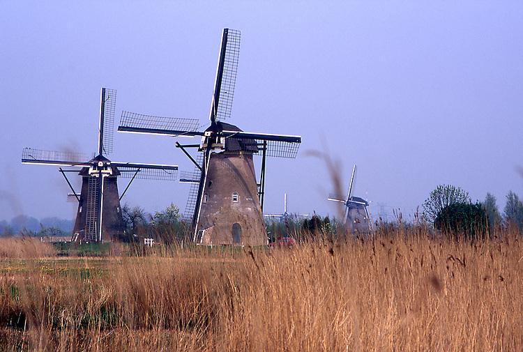 Europe, NLD, Netherlands, Provinz Zuid-Holland, Kinderdijk, Typical Windmills