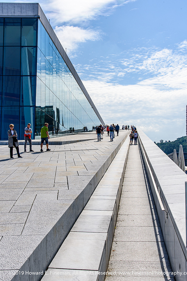 A different route up the roof of Oslo Opera House