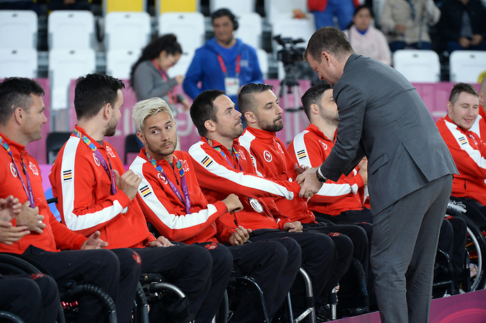 Patrice Dagenais, Lima 2019 - Wheelchair Rugby // Rugby en fauteuil roulant.<br /> Canada takes on the USA in wheelchair rugby // Le Canada affronte les États-Unis au rugby en fauteuil roulant. 27/08/2019.