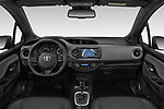 Stock photo of straight dashboard view of a 2018 Toyota Yaris Lounge 5 Door Hatchback