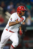 Springfield Cardinals first baseman David Washington (30) runs to first during a game against the Frisco RoughRiders  on June 3, 2015 at Hammons Field in Springfield, Missouri.  Springfield defeated Frisco 7-2.  (Mike Janes/Four Seam Images)
