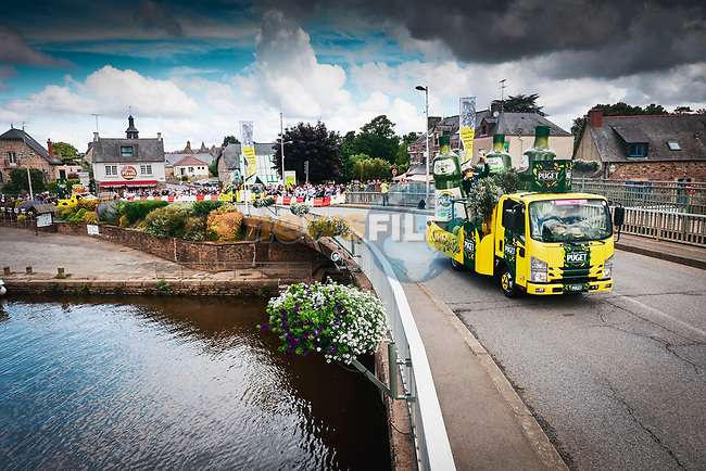 The publicity caravan before Stage 4 of the 2021 Tour de France, running 150.4km from Redon to Fougeres, France. 29th June 2021.  <br /> Picture: A.S.O./Aurelien Vialatte | Cyclefile<br /> <br /> All photos usage must carry mandatory copyright credit (© Cyclefile | A.S.O./Aurelien Vialatte)
