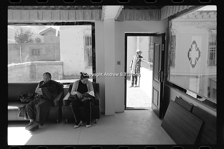 Nangqen County, Yushu Tibetan Autonomous Prefecture, Qinghai Province, China - A Tibetan medical clinic, August 2019.