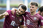 Queen of the South v St Johnstone…18.08.18…  Palmerston    BetFred Cup<br />Tony Watt and Matty Kennedy celebrate<br />Picture by Graeme Hart. <br />Copyright Perthshire Picture Agency<br />Tel: 01738 623350  Mobile: 07990 594431