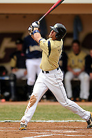Georgia Tech Yellow Jackets outfielder Brandon Thomas #6 during a game versus the Boston College Eagles at Shea Field on the campus of Boston College in Chestnut Hill, Massachusetts on March 24, 2012  (Ken Babbitt/Four Seam Images)