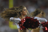 Aug 25, 2007; Glendale, AZ, USA; Arizona Cardinals cheerleaders perform against the San Diego Chargers at University of Phoenix Stadium. San Diego defeated Arizona 33-31. Mandatory Credit: Mark J. Rebilas-US PRESSWIRE