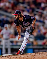 21 September 2018: Washington Nationals pitcher Austen Williams on the mound against the New York Mets at Nationals Park in Washington, DC. The Mets defeated the Nationals 4-2 in the second game of their 4-game series. Mandatory Credit: Ed Wolfstein Photo *** RAW (NEF) Image File Available ***