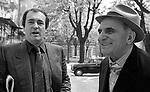 Salsomaggiore, Festival Incontri Cinematografici di Salsomaggiore,1981;Bernardo Bertolucci con il padre Attilio; Salsomaggiore, Salsomaggiore Movie Meetings Festival, Bernardo Bertolucci with his father Attilio