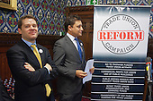 Aidan Burley MP and TURC Chief Executive Mark Clarke.  Launch of the Conservative-led Trade Union Reform Campaign, House of Commons, London.
