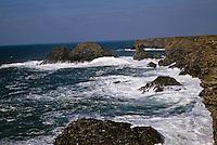 Europe/France/Bretagne/56/Morbihan/Belle-île/Pointe du Vieux: La pointe et la roche percée