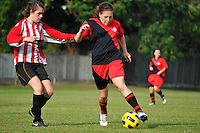 OXFORD, UK - 1 October 2011. Oxford Mail Girls Football League Under 16 match between Summertown and Swindon at Five Mile Drive, Oxford, UK. (Photo Sydney Low / syd-low.com)