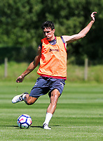 Pictured: Jack Cork passes the ball. Wednesday 05 July 2017<br /> Re: Swansea City FC training at Fairwood training ground, UK