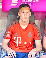 Daniel HAEGLER, FCB 3  Halbfigur ,  , Einzel, Portrait, Portraet, Einzel   <br /> FC BAYERN MUENCHEN - VFB STUTTGART 1-4<br /> Football 1. Bundesliga , Muenchen,12.05.2018, 34. match day,  2017/2018, , 28.Meistertitel, <br />   *** Local Caption *** © pixathlon