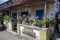 Yogyakarta, Java, Indonesia.  Private Residence in Neighborhood Adjecent to Taman sari (Water Castle).